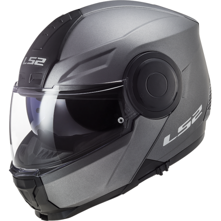 LS2 SCOPE FLIP FRONT HELMET MATT TITANIUM