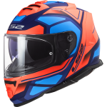 LS2 FF800 STORM FASTER MATT FLUO ORANGE BLUE