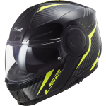 LS2 SCOPE FLIP FRONT HELMET BLACK YELLOW